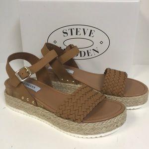 Steve Madden Claus Cognac Platform Sandal